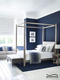 blue bedroom idea white blue design minimalist