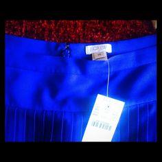 J.Crew Midi Skirt, NWT An elegant cobalt blue midi skirt with pleats.todays hip from a date night to walk in summer! beautiful!NWT J. Crew Skirts Midi