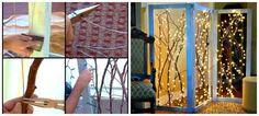 Un paravent décoration pour salon en branches d'arbre