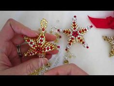 Star ornament bead weaving tutorial - YouTube