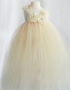 635d88434f3 Floriated Tulle Flower Girl Wedding DressChampagne Party Dress Special  Occasion Dress