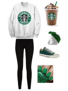 For any Starbucks lovers out there💚 Cute Teen Outfits, Teen Fashion Outfits, Teenager Outfits, Outfits For Teens, Cool Outfits, Summer Outfits, Casual Outfits, Typical White Girl, Basic White Girl