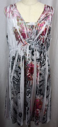 Style & Co. Womens Sublimation Sleeveless Embellished Polyester Blend Dress XL #StyleCo #Versatile