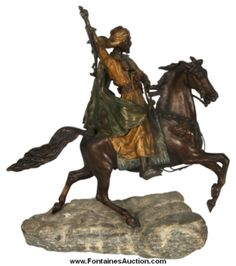 Franz Bergman Bronze Arab Warrior