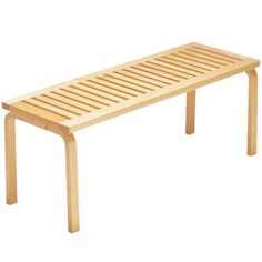 For Sale on - Alvar Aalto Bench for Artek in Solid Birch. Designed in 1945 and produced by its original manufacturer, Artek of Finland. Executed in solid birch Alvar Aalto, Furniture Decor, Modern Furniture, Furniture Design, Street Furniture, Vintage Bench, New Bedroom Design, Interior Design, Modern Architecture House