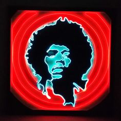 Jimi Hendrix Neon-inspired Wall Art, Limited Edition, Only 10 made! Legends of Light Series #1