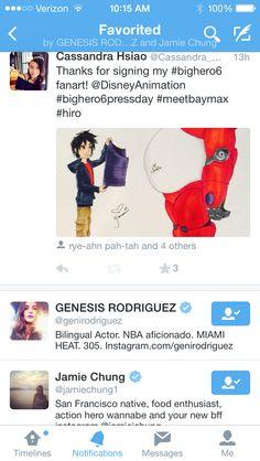 Favorited tweet by Jamie Chung and Genesis Rodriguez