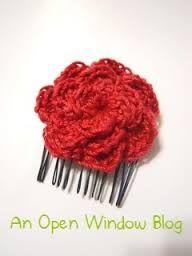 crochet hair accessories - Cerca amb Google