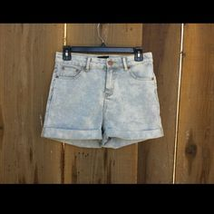 Blue/White Striped High waisted shorts They look just like the Levi's striped shorts. Perfect for this season!  Worn only 1 time, on vacation. :) The price is firm for now. Great condition , material is very stretchy. No trades Joe Boxer Jeans