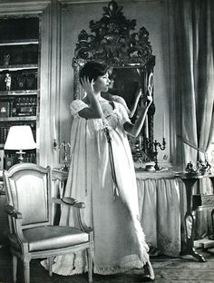 Add elegance to your curves with the perfect night gown, 1958
