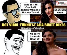 #AliaBhatt became the butt of all jokes after her appearance on a popular chat show. Click to see some funny MEMES on the #bollywood diva..
