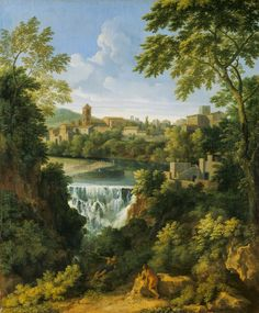 Gaspard Dughet, The Falls at Tivoli, Italy, c. 1661 - c. 1663, Painting