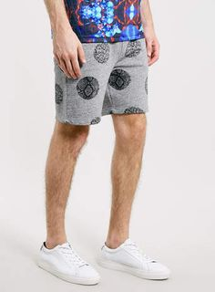 Antioch Snake Print Polka Dot Sweat Shorts*