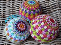 soft crochet rainbow ball pattern