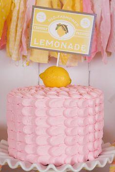 Cake at a Lemonade Party #lemonade #partycake