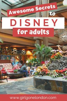 Disney World isn't just for kids - you can also enjoy Disney World for adults! Enjoy this guide to Disney for the grown-ups (hello, bars and rollercoasters! Disney World Resorts, Disney World Tipps, Disney World Tips And Tricks, Disney Tips, Disney Food, Disney Vacations, Disney Worlds, Disney Secrets, Best Disney World Restaurants
