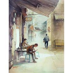 #若鹏水彩 #KwanYeukPang #Kwan_Yeuk_Pang #artwork #drawing #painting #watercolor #prints #watercolor #水彩画 #myart #绘 #日绘