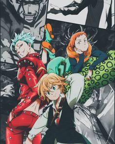 King, ban and meliodas Seven Deadly Sins Anime, 7 Deadly Sins, Anime Angel, Anime W, Anime Meliodas, Meliodas And Elizabeth, Seven Deady Sins, 7 Sins, Anime Profile