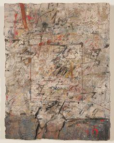 Karl Fred Dahmen, ohne Titel, Collage auf Karton auf Holz 1965