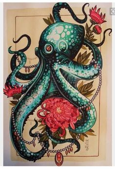 Security check required - octopus drawing by the tattoo artist Mister . - Security check required – octopus drawing by the tattoo artist Mister P. Tattoos Bein, Torso Tattoos, Body Art Tattoos, Xoil Tattoos, Forearm Tattoos, Tattoo Ink, Thigh Piece Tattoos, Underboob Tattoo, Fox Tattoo