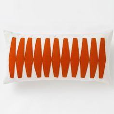 DwellStudio Otto Tangerine Pillow | DwellStudio