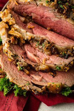 Roast Recipes, Steak Recipes, Dinner Recipes, Cooking Recipes, Rib Recipes, Smoker Recipes, Game Recipes, Dinner Ideas, Prime Rib Recipe Video