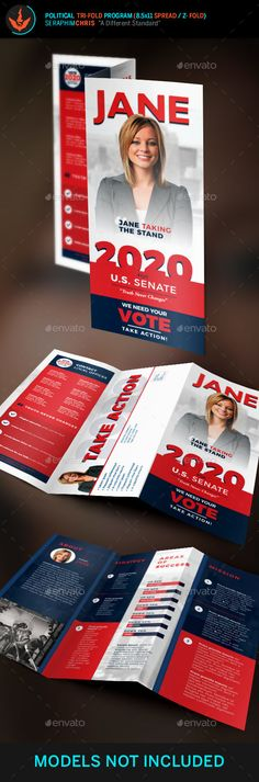 Re-Election Political Brochure Template - Corporate Brochures - political brochure