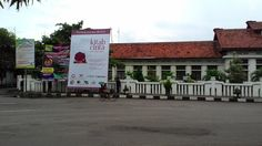 Baliho Peluncuran Antologi lokasi depan museum batik Pekalongan jalan jetayu #kotapuisi #pekalongan photo courtesy: Agus Ridho