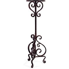 Handcrafted Provence Tall Metal Scroll Pedestal Plant Stand | Overstock.com Shopping - Great Deals on Accent Pieces