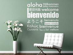 Decoración de paredes con palabras o frases