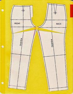 Modificaciones a los moldes de pantalones.