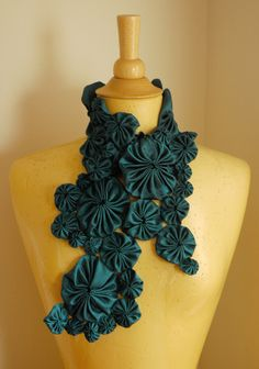 poly shantung yo yo scarf: folded | by Marie the Bee