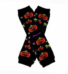 BLACK  ORANGE PUMPKINS (HALLOWEEN) - Sweet Baby Leggings/Leggies/Leg Warmers