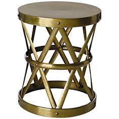 Arteriors Home Costello Antique Brass Side Table