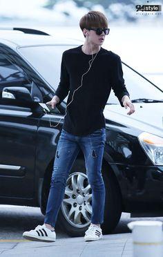 EXO-K Sehun airprot fashion at Incheon Airport [140714]