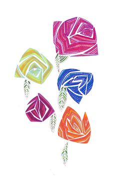 """""""Bloom"""" A collaboration of Copic markers and Posca pens. By Meg Minkley #ElementEdenArtSearch"""