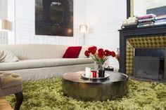 Salon Haussmannien Entre tradition et modernité.Séjour parisien, tapi, décoration, table basse, cheminé