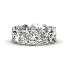 A unique wedding band in platinum. The Poseidon Band.