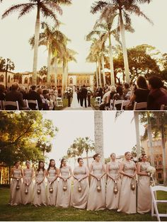 <3 Have the Bridesmaids walk down with Beautiful Lanterns instead if flowers (Bottom Picture)