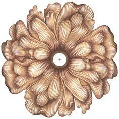 "Flower Bloom 36"" Wide Repositionable Ceiling Medallion; $80, lampsplus.com"