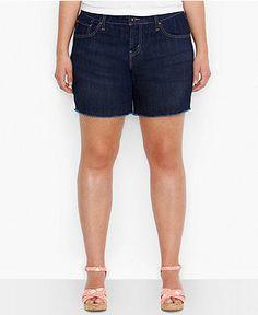 Levi's® Plus Size Cutoff Denim Shorts, Origin Wash - Plus Size Shorts - Plus Sizes - Macy's