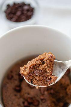 Mug Cake de Chocolate sin Gluten Cocoa, Chocolate Sin Gluten, Cereal, Breakfast, Almond Flour, Coconut Oil, Pound Cake, Sweets, Deserts