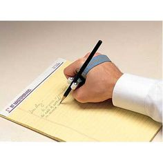 adaptive writing aide with universal cuff- makes it possible and easier for individuals with lack of function with fine motor tasks, such as writing/gripping a pencil or pen