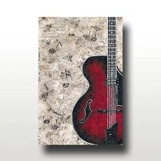 Guitar and Sheet Music Limited Edition PRINT  by BrittsFineArt, $35.00