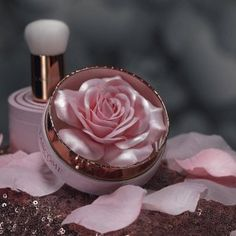 La Rose a Poudrer iridescent blush highlighter by #Lancome - mostly just a pretty package. Ideal for fair to very light tan skin w/ pinkish or red undertones. once product is gone, just sprinkle your favorite highlighter or setting powder on top (I currently have a little #CotyAirspun in it)