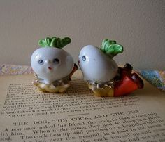 Vintage Salt and Pepper Shakers 1950s Don't Ask by MyWanderingEye, $24.00