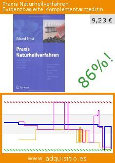 Praxis Naturheilverfahren: Evidenzbasierte Komplementarmedizin (Tapa blanda). Baja 86%! Precio actual 9,23 €, el precio anterior fue de 68,37 €. http://www.adquisitio.es/springer-verlag-gmbh/praxis-naturheilverfahren
