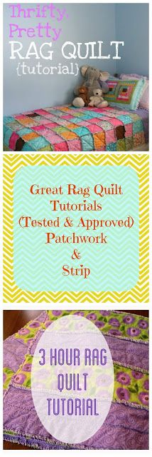 Great Beginning Rag Quilt Tutorials (Tested and Approved)