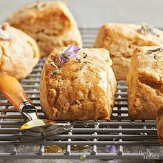 Dried lavender buds stepped in warm cream lend a nice floral quality without overpowering these light scones.