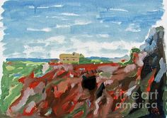 #Landscape #Oil #Painting #Spain #andalucia - Cerro del Hierro by Greg Mason Burns - #Oil on #Canvas #Board (2105) - 30 x 40 cm - www.gregmasonburns.com